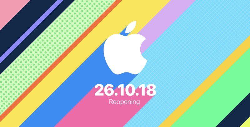 Apples Covent Garden Store feiert Wiedereröffnung am 26. Oktober 1