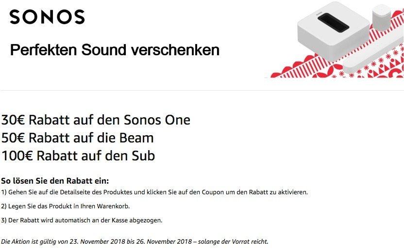 Zugreifen: Sonos One für 164 Euro nur heute mit Gutschein 2