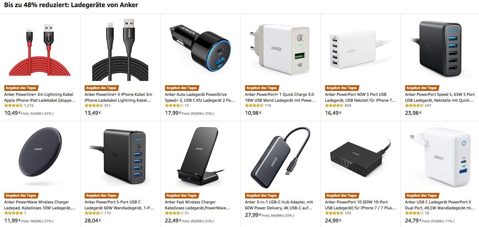 iPhone Ladegeräte, USB-C Hubs, Wireless Charger & Saugroboter heute günstiger 23