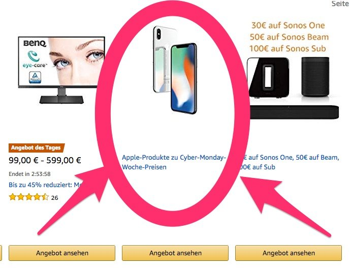 reputable site 831ff 4fe54 Apple iPhone X & Apple Watch beim Amazon Black Friday & Cyber Monday