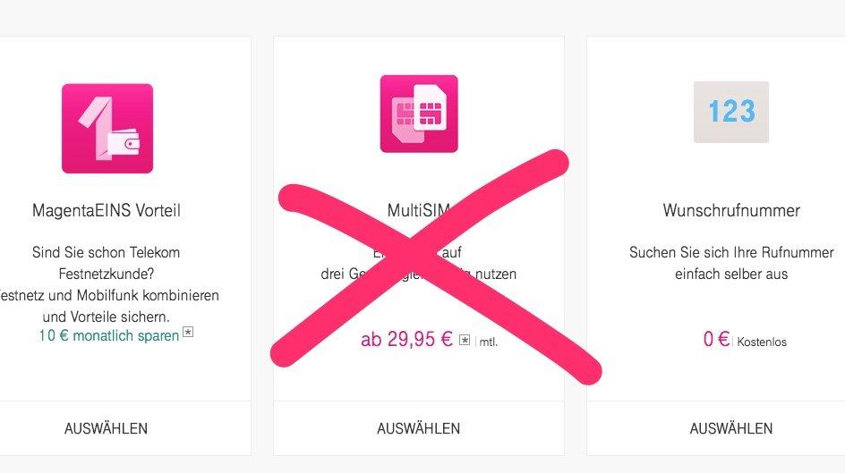MagentaMobil XL: Telekom MultiSIM für Apple Watch billiger für 4,95 statt 29,95! 3