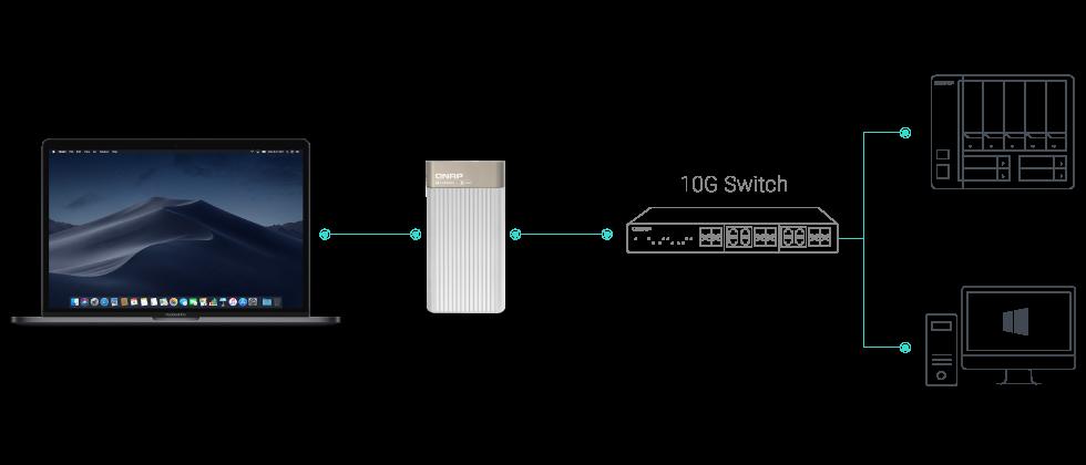Zum Nachrüsten: QNAP zeigt Thunderbolt 3 auf 10GbE Ethernet Adapter 2