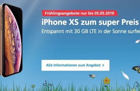 iPhone XS bei O2 mit 30 GB LTE Flatrate: 1€ Gerätepreis + 360€ sparen 8