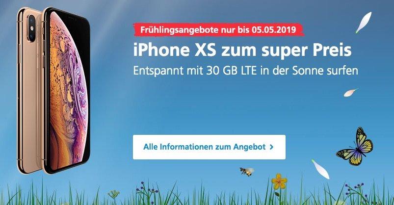 iPhone XS bei O2 mit 30 GB LTE Flatrate: 1€ Gerätepreis + 360€ sparen 1