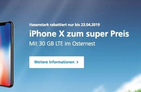 Oster-Angebot: iPhone X mit 30 GB LTE nur 49,99€ monatlich 4