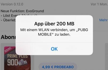 Apple erhöht Download Limit im App Store von 150 auf 200 MB 5