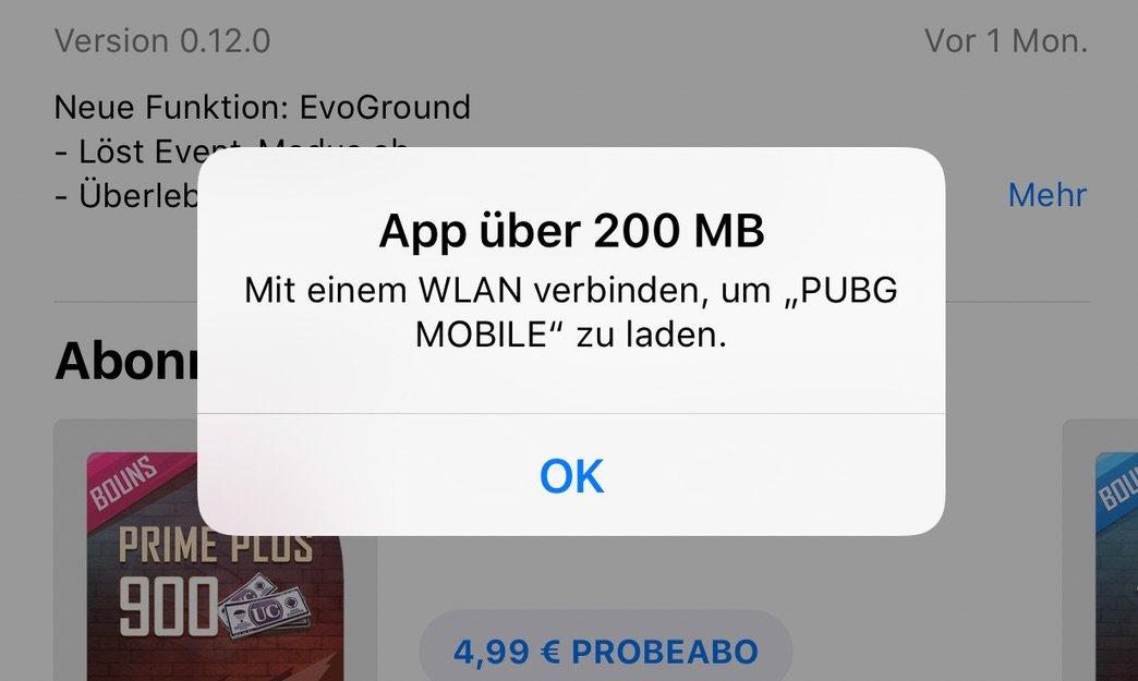 Apple erhöht Download Limit im App Store von 150 auf 200 MB 1