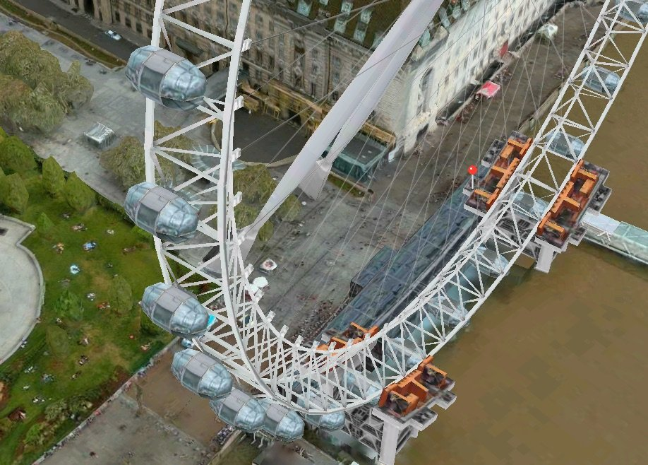 Apple Maps: London Eye Riesenrad bewegt sich im 3D Flyover 1