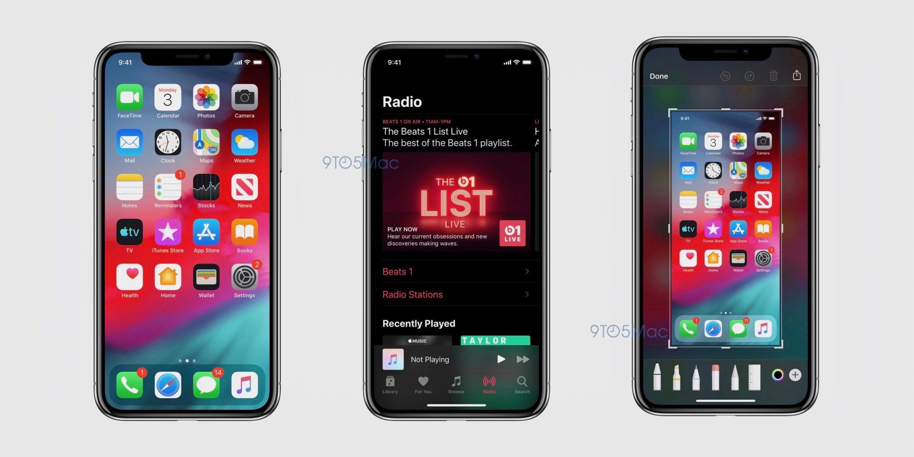 """iOS 13: erste Screenshots zeigen Dark Mode auf Homescreen, Reminders und neue App """"Find My"""" 1"""