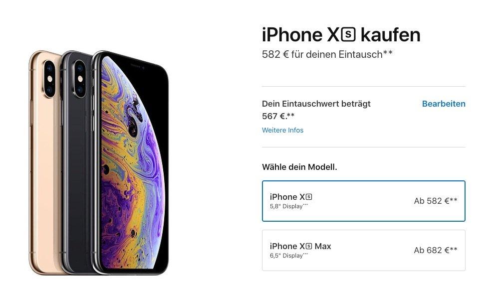 apple trade in bis zu 567 euro gutschrift f r altes iphone. Black Bedroom Furniture Sets. Home Design Ideas