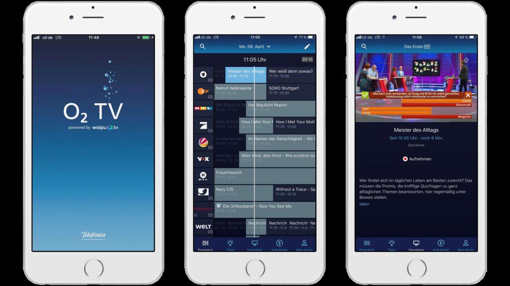 O2 TV: o2 startet Fernseh, TV  & Streaming Option mit waipu.tv 2