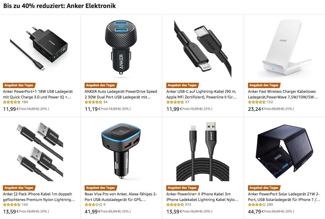 Anker Rabatt auf iPhone Ladegeräte, Kfz-Ladegeräte, Qi Wireless Charging, Ladekabel, Solar- & USB-C, externe Akkus 2