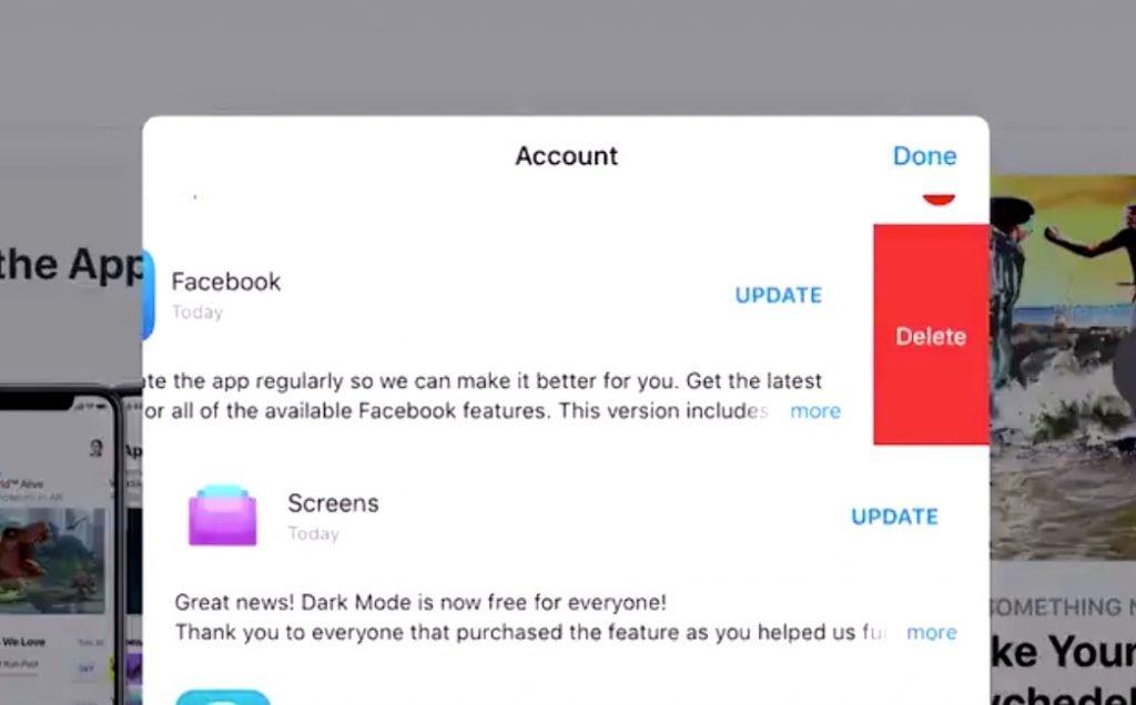iOS 13: Apps löschen im AppStore vor/nach Update 2