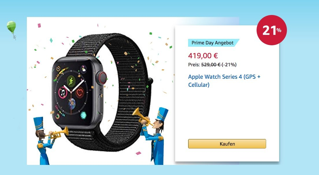 110 Euro billiger: Apple Watch Series 4 GPS + Cellular im Angebot 13