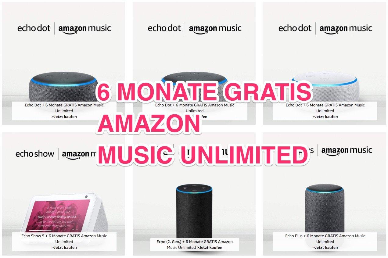 6 Monate Amazon Music kostenlos mit Echo Dot (neueste Generation) für 19,99€ 16