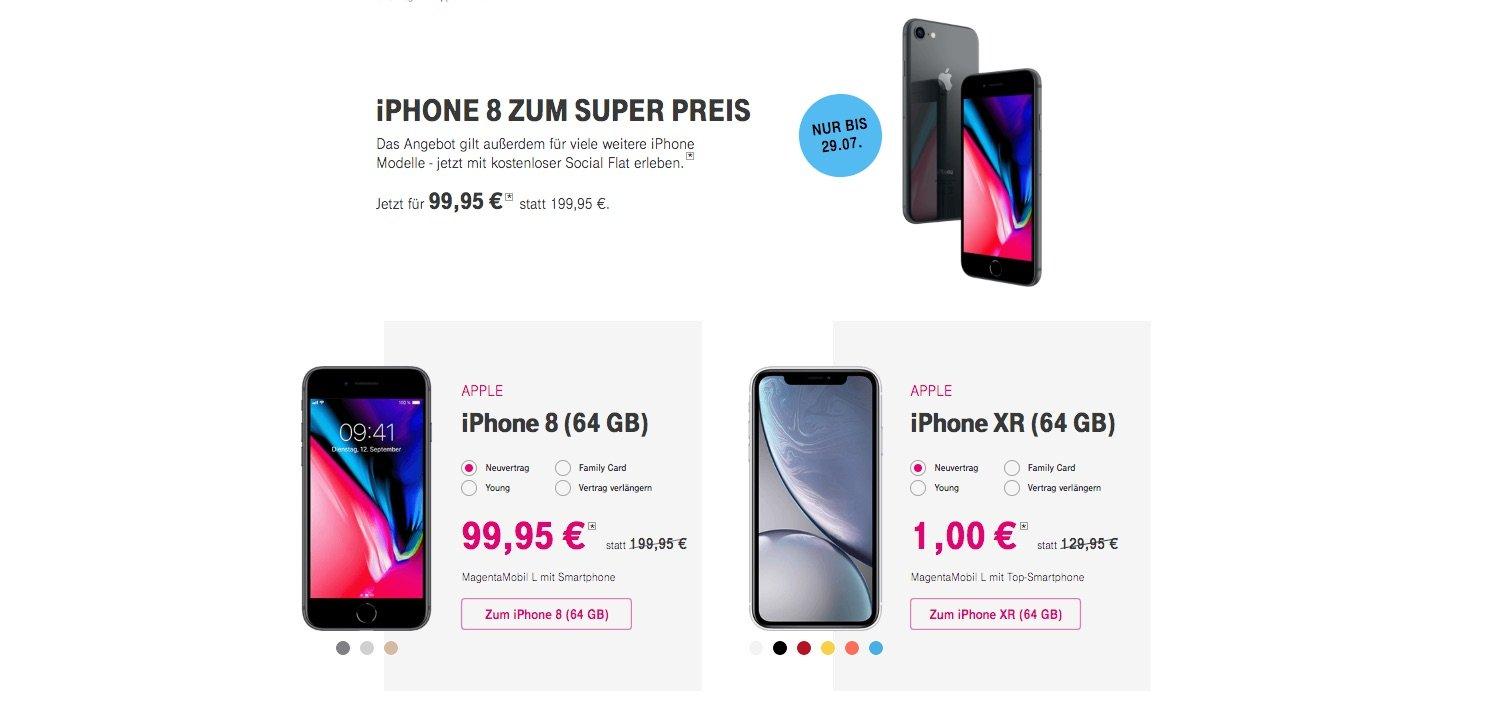 iPhones zum Superpreis bei Telekom: neues iPhone mit 100 Euro Rabatt 1