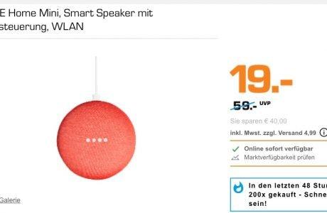 Google Home Mini für 19 Euro im Angebot. 10