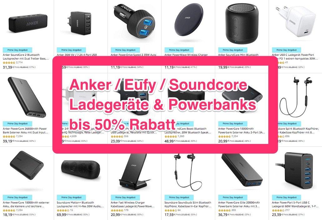 Heute Billiger: Anker Ladegeräte & Powerbanks, SoundCore Bluetooth Lautsprecher 9