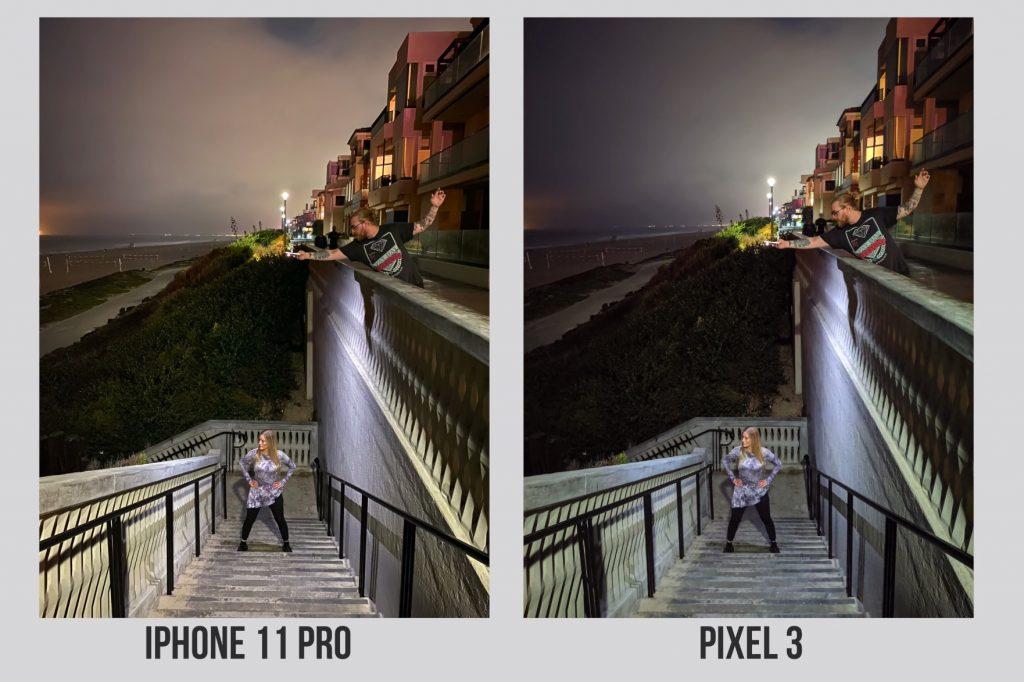 Night Mode: Vergleich iPhone 11 Pro Max vs. Google Pixel 3a XL Nachtmodus 2