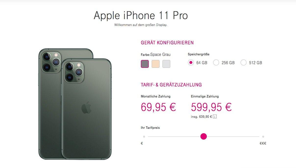 Tarife & Preise für iPhone 11, iPhone 11 Pro Max mit Telekom Vertrag 2