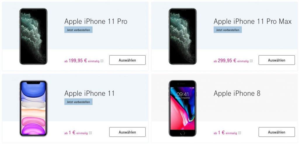 Telekom: iPhone 11 ab 1 Euro, iPhone 11 Pro (Max) ab 199 Euro verfügbar 2