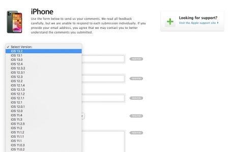 iOS 13.2 bereits auf der Apple Webseite gelistet 1