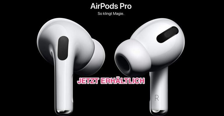 Ab sofort erhältlich: AirPods Pro für 279 Euro hier bestellen 1