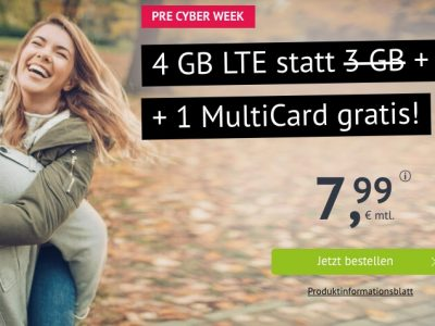 Allnet Flat, 4GB LTE, monatlich kündbar, MultiSIM für 7,99€ 15