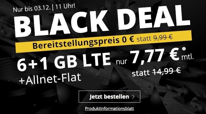 PremiumSIM: 7 GB LTE für 7,77€ mit Telefon-Flat, SMS-Flat, EU-Flat 1