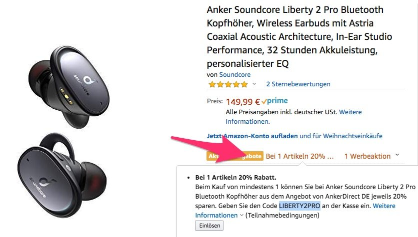 Anker Soundcore Liberty 2 Pro nur 119,99€ statt 149,99€ 2