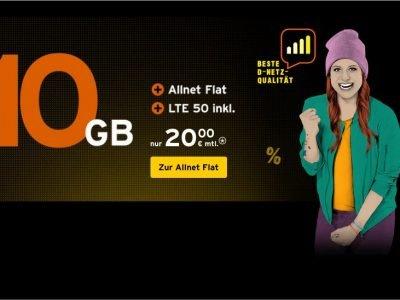 Congstar: 10 GB LTE Allnet Flat im Telekom D1-Netz für 20€ 3