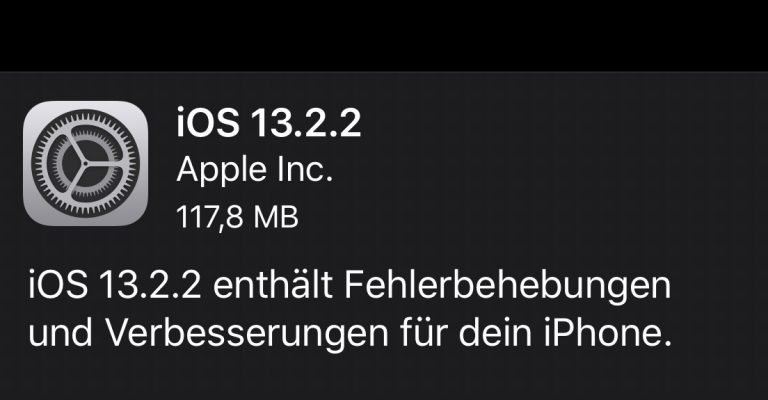 iOS 13.2.2 Changelog: behebt App Abstürze im Hintergrund 1